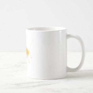 Saltamontes anaranjado taza básica blanca