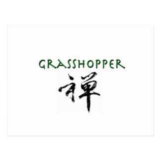 """Saltamontes con símbolo del """"zen"""" tarjeta postal"""