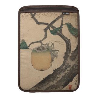 Saltamontes que come el caqui - Katsushika Hokusai Funda Macbook Air