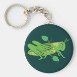 Saltamontes verde llaveros personalizados