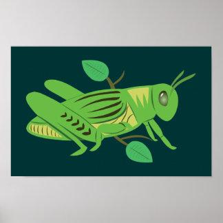 Saltamontes verde poster
