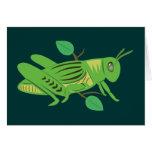 Saltamontes verde tarjetón