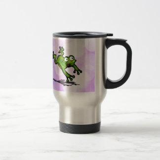 Saltando el personalizar de la rana lindo tazas