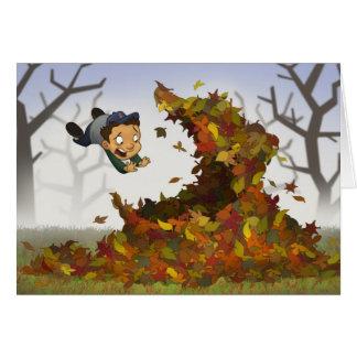 """""""Saltando en tarjeta de las hojas"""""""