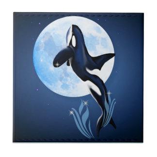 """Saltando la orca y la luna teja """"n"""" Trivets"""