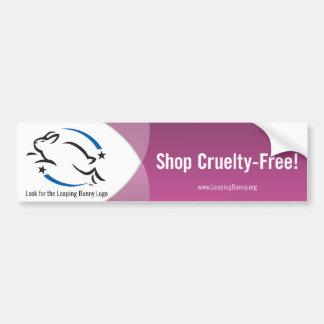 Saltando la tienda del conejito Crueldad-Libre Pegatina Para Auto