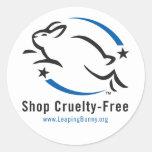 Saltando la tienda del conejito Crueldad-Libre Pegatinas
