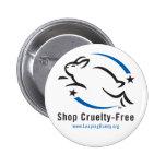 Saltando la tienda del conejito Crueldad-Libre Pin
