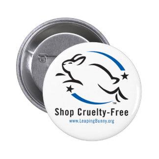 Saltando la tienda del conejito Crueldad-Libre Pin Redondo De 2 Pulgadas