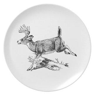 Saltando los ciervos (dólar) plato