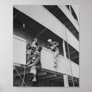 Saltar la escoria de una nave póster