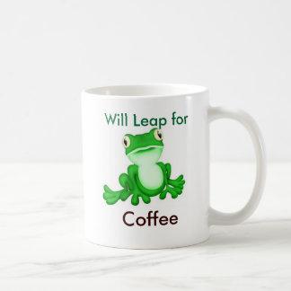 Saltará para el café taza de café