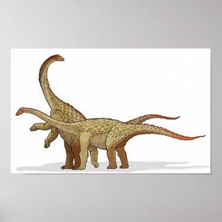 Saltasaurus - Cretaceous Dinosaur Portfolio Poster