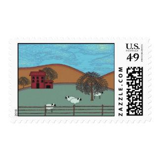 Saltbox House Farm Stamp