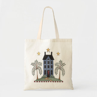 Saltbox House on a Hill Tote Bag