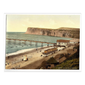 Saltburn-by-the-Sea, general view, Yorkshire, Engl Postcard