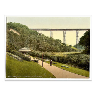 Saltburn-by-the-Sea, the gardens, Yorkshire, Engla Postcard