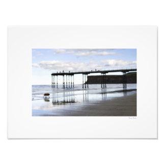 "Saltburn Pier & Dog 16""x12"" Photo Print"