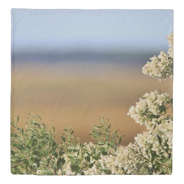 Beach Themed Saltbush flowers duvet cover