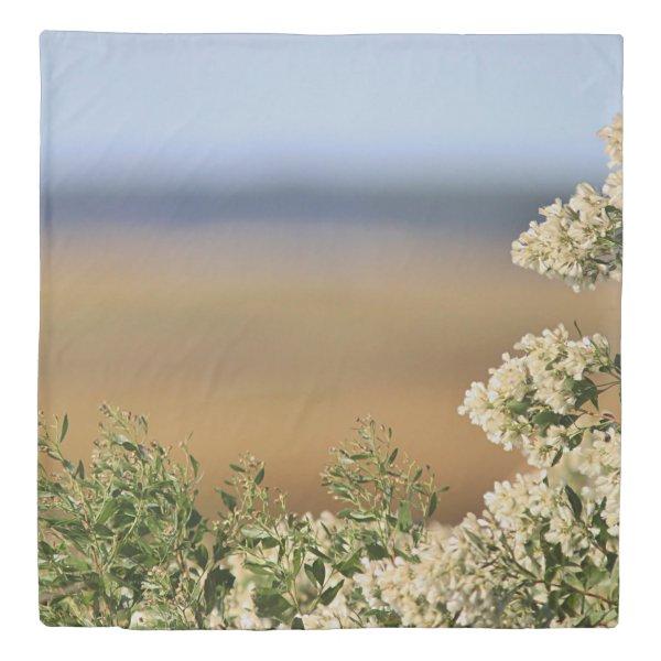 Saltbush flowers duvet cover