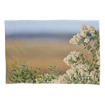 Beach Themed Saltbush flowers pillow case