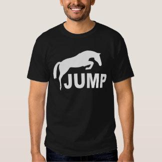SALTE con el caballo de salto (blanco) Remeras