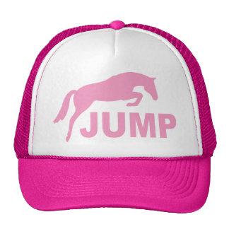 SALTE con el caballo de salto (el rosa) Gorra