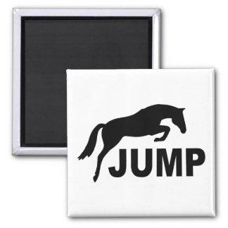 SALTE con el caballo de salto Imán Cuadrado