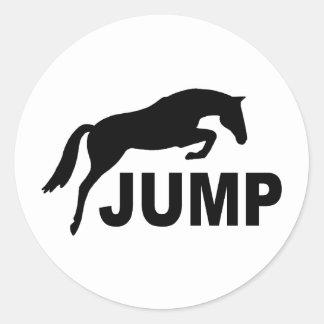SALTE con el caballo de salto Pegatina Redonda