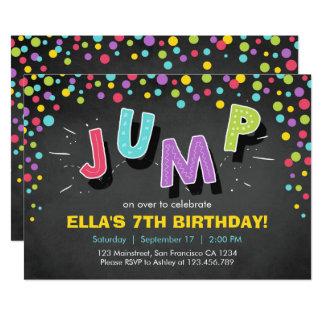 """Salte el cumpleaños de la despedida de la casa de invitación 5"""" x 7"""""""