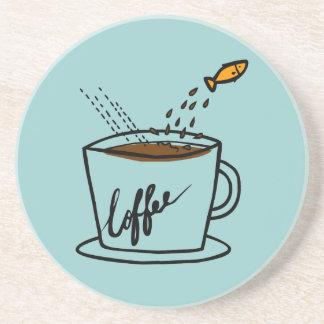 Salte el práctico de costa del arte del doodle del posavaso para bebida