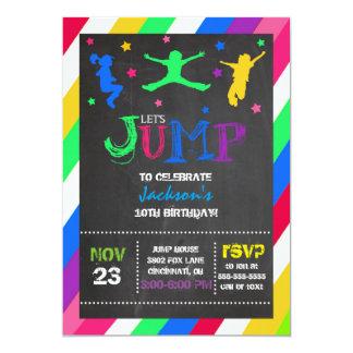 Salte la invitación del cumpleaños del trampolín