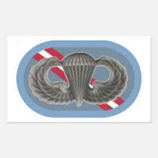 Salte las alas en los 143os pegatinas del óvalo de pegatina rectangular
