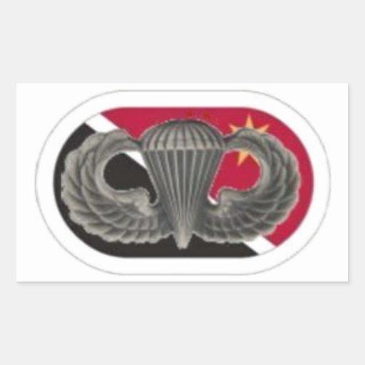 Salte las alas en los 23D pegatinas del Co del Pegatina Rectangular