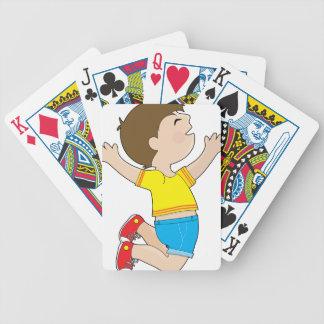 Salte para la alegría cartas de juego