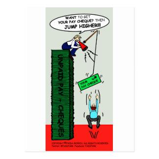 SALTE un dibujo animado sarcástico brillante MÁS A Tarjeta Postal