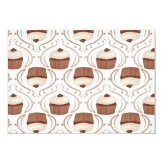 "Salted Caramel Chocolate Cupcake Invitations 3.5"" X 5"" Invitation Card"