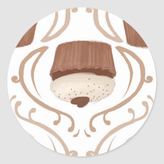 Salted Caramel Cupcake Classic Round Sticker