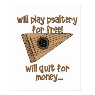 Salterio del juego gratis postal