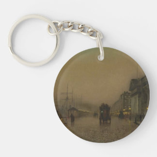 Salthouse Dock, Liverpool by John Grimshaw Single-Sided Round Acrylic Keychain