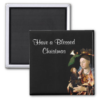 Salting Madonna and Christ Child 2 Inch Square Magnet