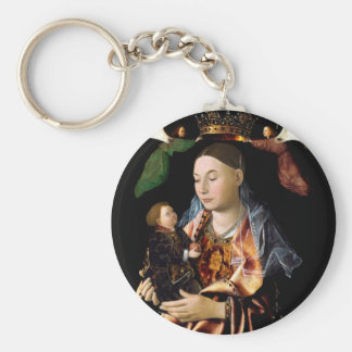Salting Madonna and Christ Child Keychain