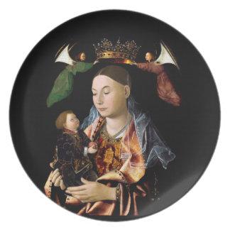 Salting Madonna and Christ Child Melamine Plate