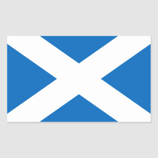 Saltire de Escocia, bandera escocesa (color Pegatina Rectangular
