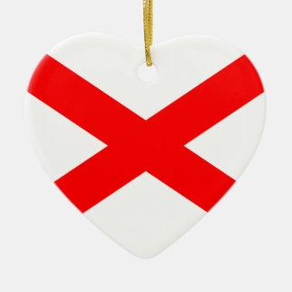 Saltire de San Patricio, bandera de Irlanda Adorno Para Reyes