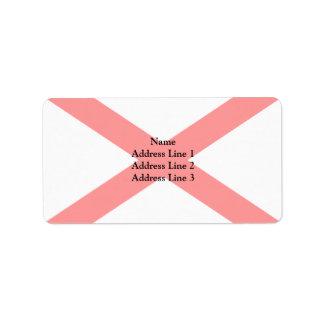 Saltire de San Patricio, bandera de Irlanda Etiquetas De Dirección