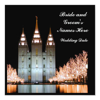 "SaltLakeTemple-InvitationToWeddingReception Invitación 5.25"" X 5.25"""