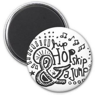 Salto 1 del salto de Hip Hop Imán Redondo 5 Cm