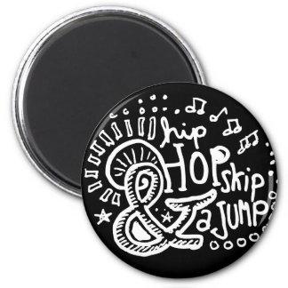 Salto 2 del salto de Hip Hop Imán Redondo 5 Cm