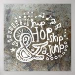 Salto 2B del salto de Hip Hop Poster